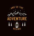 vintage camp patch logo mountain wildlife badge vector image vector image
