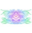 vintage colorful alien fantastic psychedelic vector image vector image