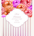 vintage roses card retro beautiful bouquet vector image vector image