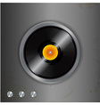 vinyl and dials on metallic background vector image vector image