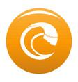 wave aqua icon orange vector image vector image