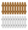 wooden fence set on white background vector image