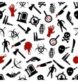 zombie seamless pattern vector image vector image