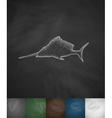 swordfish icon vector image