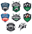 American football fantasy league design elemens vector image