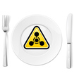 Dangerous food vector image