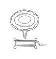 sketched gramophone talking machine vintage vector image