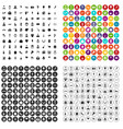 100 wedding icons set variant vector image vector image