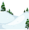 a winter outdoor landscape vector image