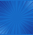 abstract blue striped retro comic background with vector image vector image