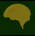 abstract human brain radial lines vector image vector image