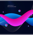 abstract modern fluid background vector image vector image