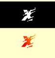 alphabet logo design template dynamic unusual vector image vector image