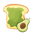 avocado toast fresh toasted bread with avocado vector image vector image