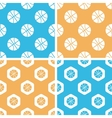 Basketball pattern set colored vector image vector image
