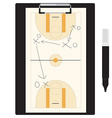Basketball tactic vector image vector image
