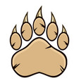 bear paw with claws vector image vector image