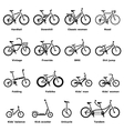 Bicycle types icons set simple style