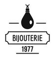 bijouterie logo simple black style vector image vector image