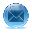 Blue abstract 3d mail icon vector image vector image