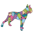 Boxer dog colorful vector image vector image