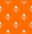 brazil football pattern orange vector image vector image