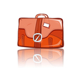 Brown Suitcase Isolated on White Background vector image vector image