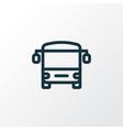 bus icon line symbol premium quality isolated vector image