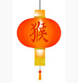 chinese year of the monkey paper lantern vector image vector image