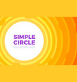 circle style background in orange color vector image vector image
