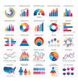 color finance data chart icons statistics vector image