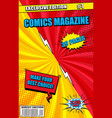 colorful comics magazine cover concept vector image