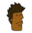 comic cartoon man feeling sick vector image vector image
