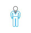 company manager thin line stroke icon vector image vector image