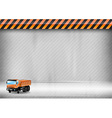 construction background car vector image vector image
