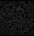 dark black abstract triangular background vector image vector image