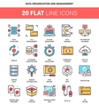 Data Organization and Management vector image vector image
