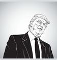 donald trump cartoon vector image