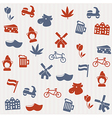 dutch seamless pattern vector image