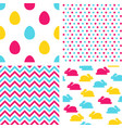 easter seamless patterns backgrounds for vector image vector image
