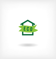 Eco home low-energy houseg icon vector image vector image