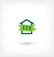 Eco home low-energy houseg icon vector image