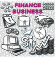 finance drawing vector image