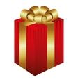gift box present icon vector image