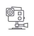 go pro video camera line icon sign vector image vector image