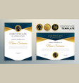golden certificate award template for vector image
