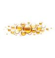 golden oil bubbles cosmetic collagen serum vector image