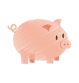 hand draw piggy money bank color vector image vector image