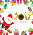 Happy new year 2017 Santa claus with gifts vector image vector image