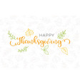 happy thanksgiving typography poster and outline vector image